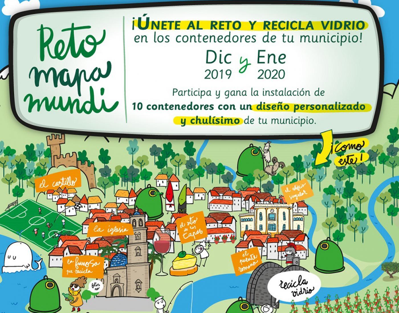 "Churriana se une al ""Reto Mapamundi"" para fomentar el reciclaje de vidrio"