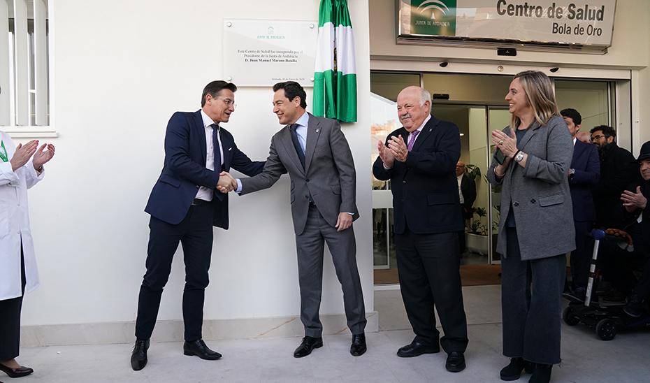 Moreno inaugura el Centro de Salud de Bola de Oro