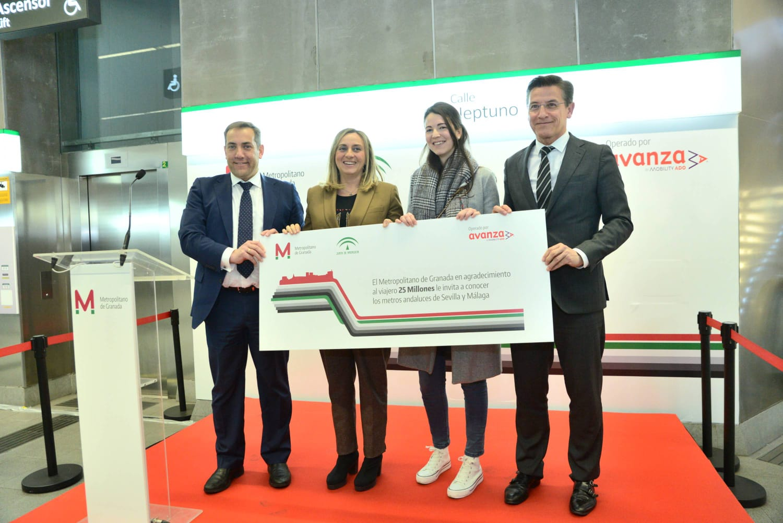 El metro de Granada recibe al viajero 25 millones