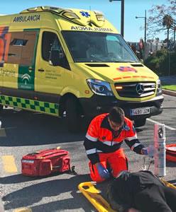 Conductores de ambulancias de la contrata del 061 denuncian el retraso en el pago de sus nóminas