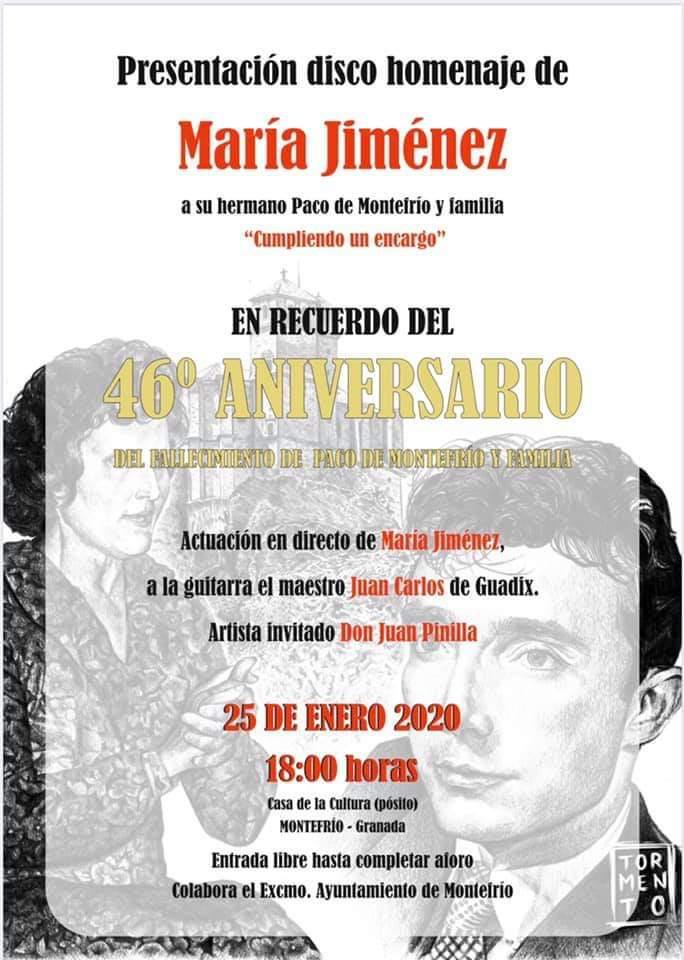 La cantaora María Jiménez, de 83 años, presenta disco dedicado a su hermano, Paco de Montefrío, fallecido hace 46 años