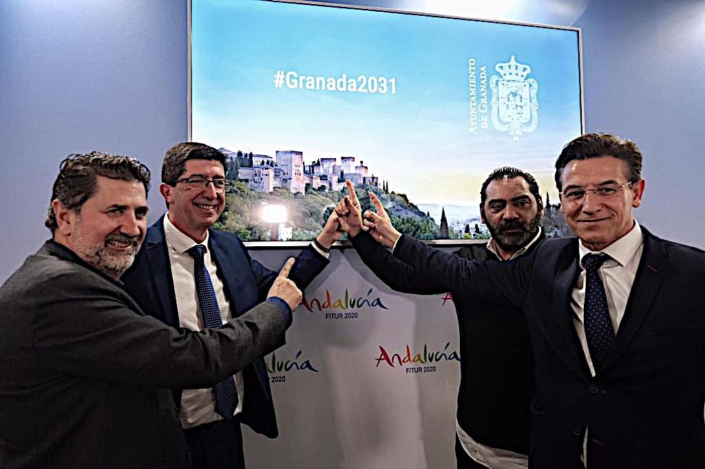 La Junta, desde FITUR, muestra su apoyo a»Granada, Capital Europea de la Cultura 2031″