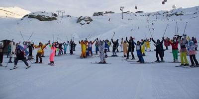 Disfraces y esquí en Sierra Nevada