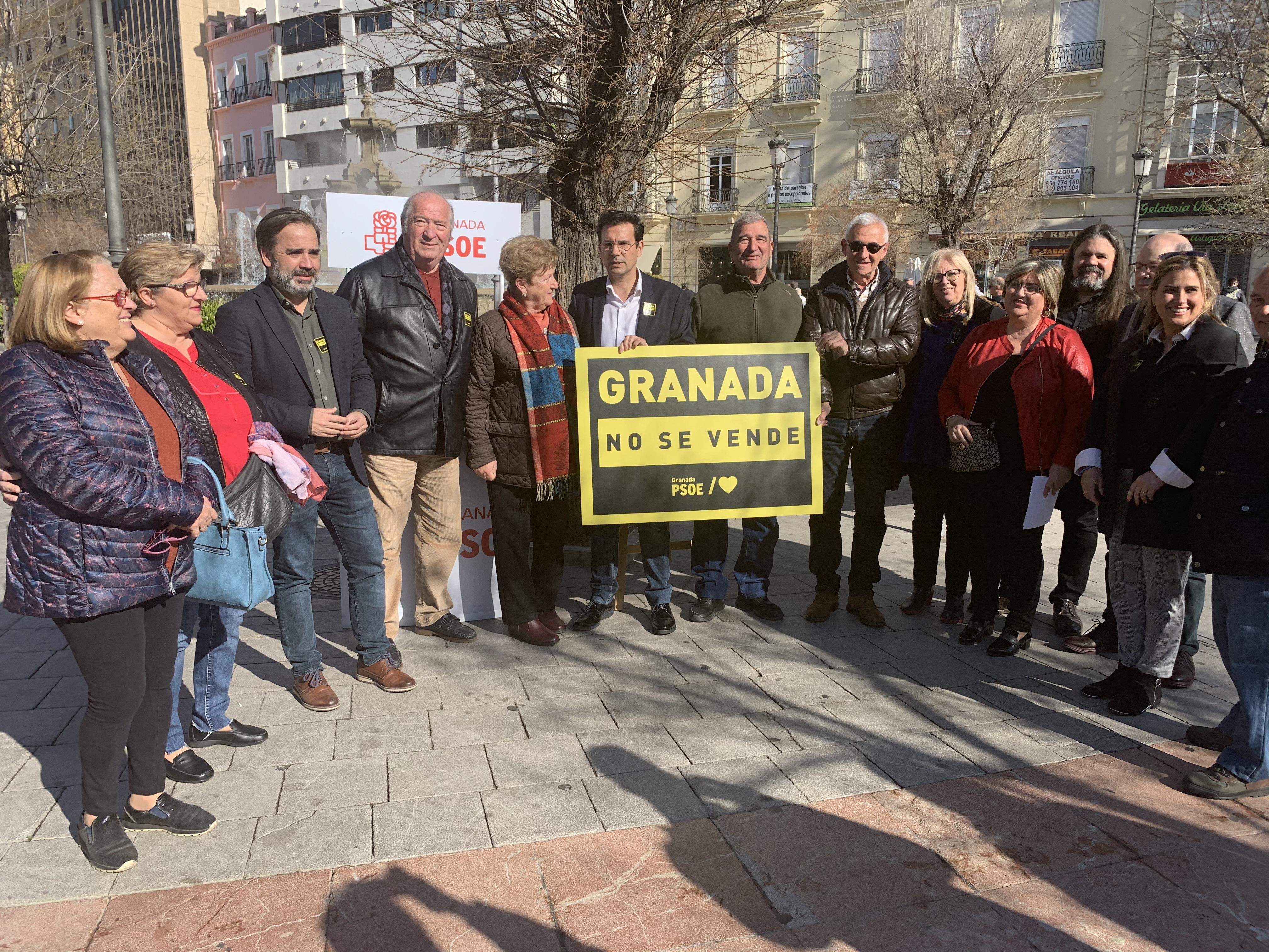 «Granada no se vende» nueva campaña del PSOE para evidenciar las consecuencias de los pactos CS, PP y Vox