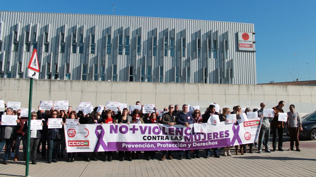 CCOO y UGT muestran su repulsa al asesinato por violencia de género ocurrido en Granada