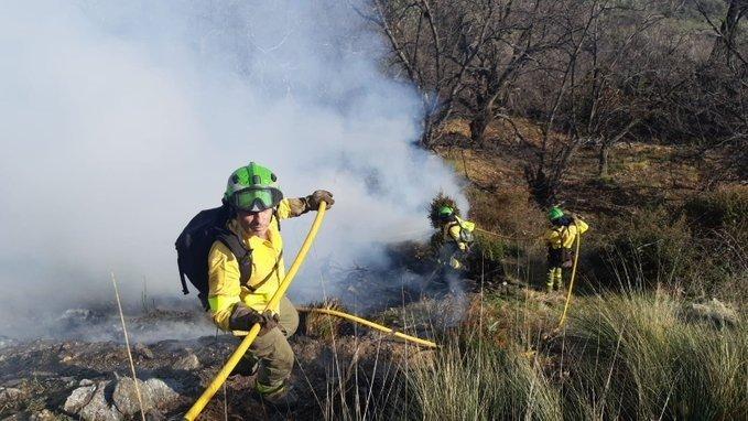 Estabilizado un incendio declarado en la localidad de Cáñar