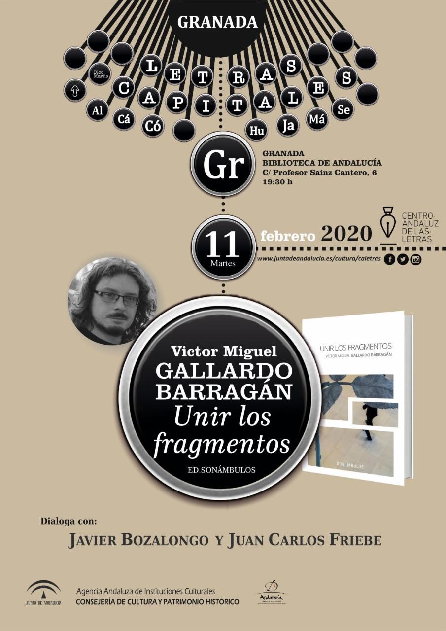 El poeta Víctor M. Gallardo presenta su primer poemario titulado 'Unir los fragmentos'