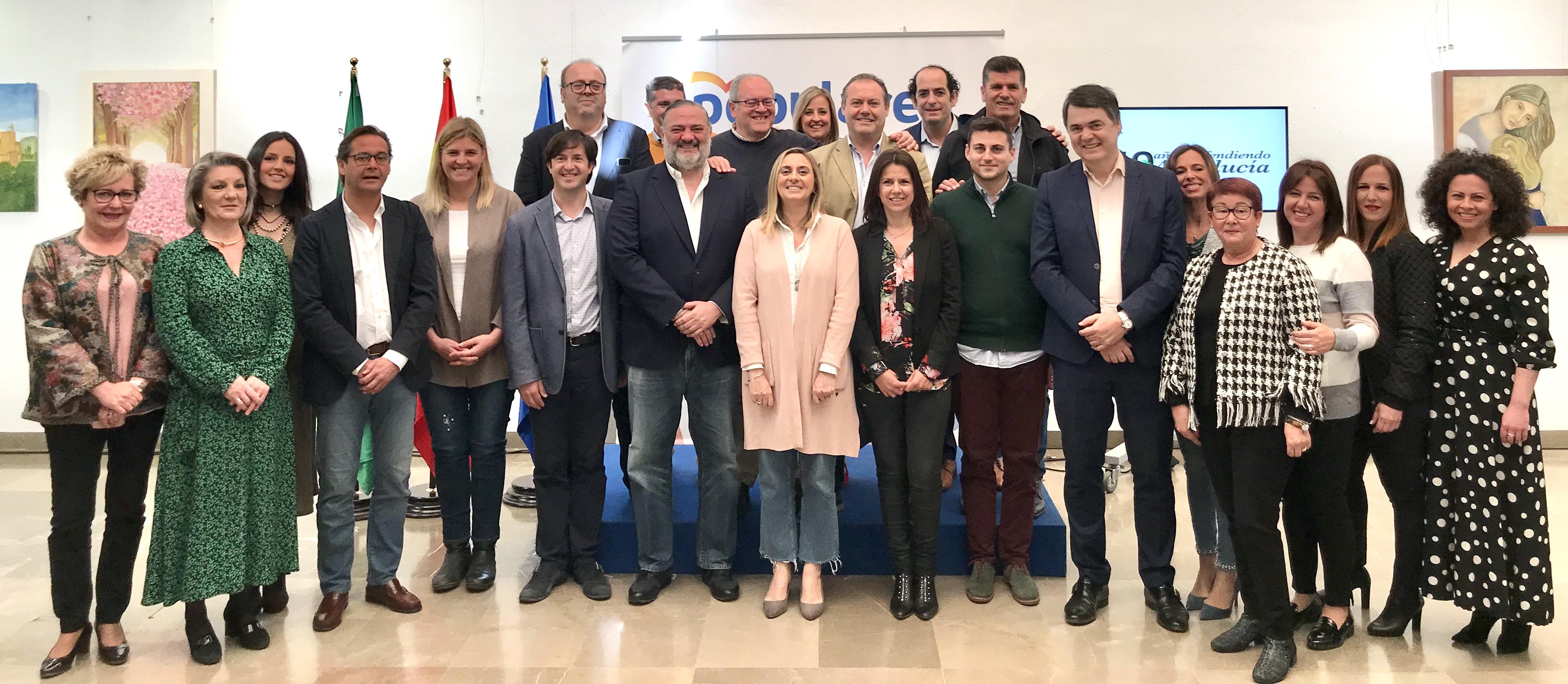 El PP clausura un acto en defensa de Andalucía en Churriana