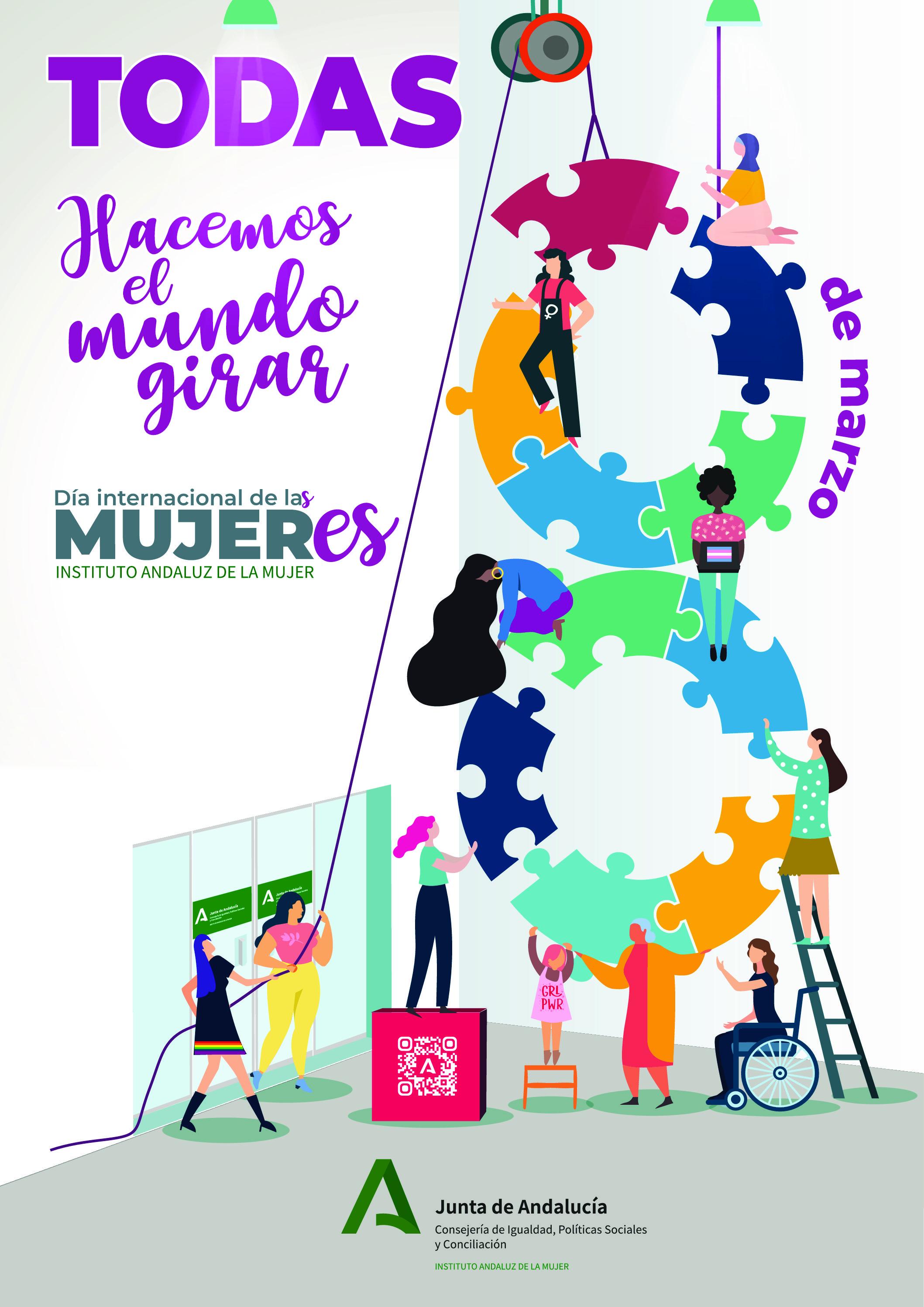 La Junta reivindica un feminismo inclusivo en la campaña del 8M 'Todas hacemos el mundo girar'