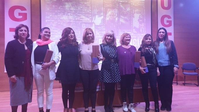 UGT-A entrega en Granada los Premios  'Luchadoras' a cuatro mujeres por su defensa de la igualdad y los derechos de las trabajadoras