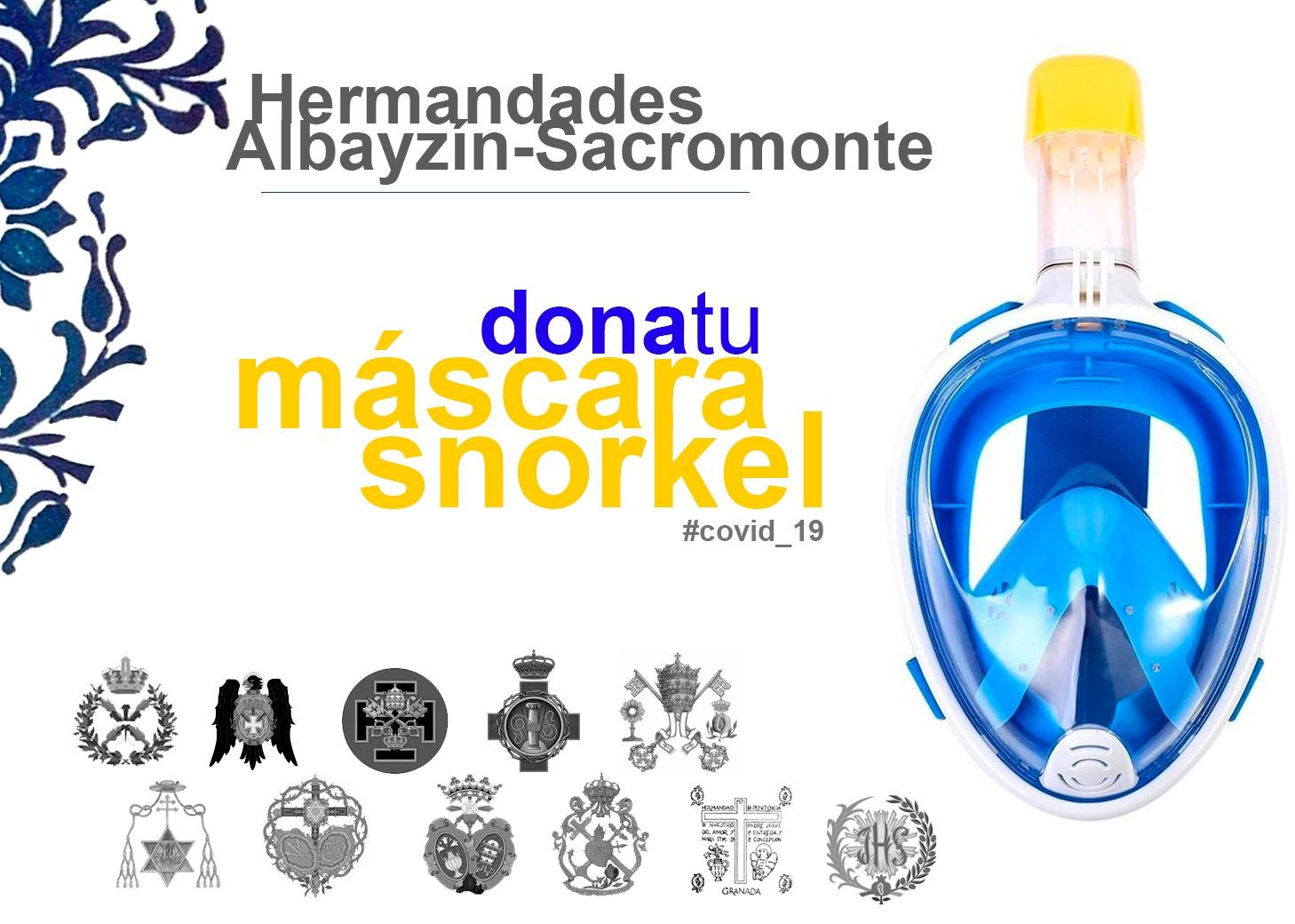 hermandades granadinas se suman a la campaña 'Dona tu máscara de snorkel' para combatir el coronavirus