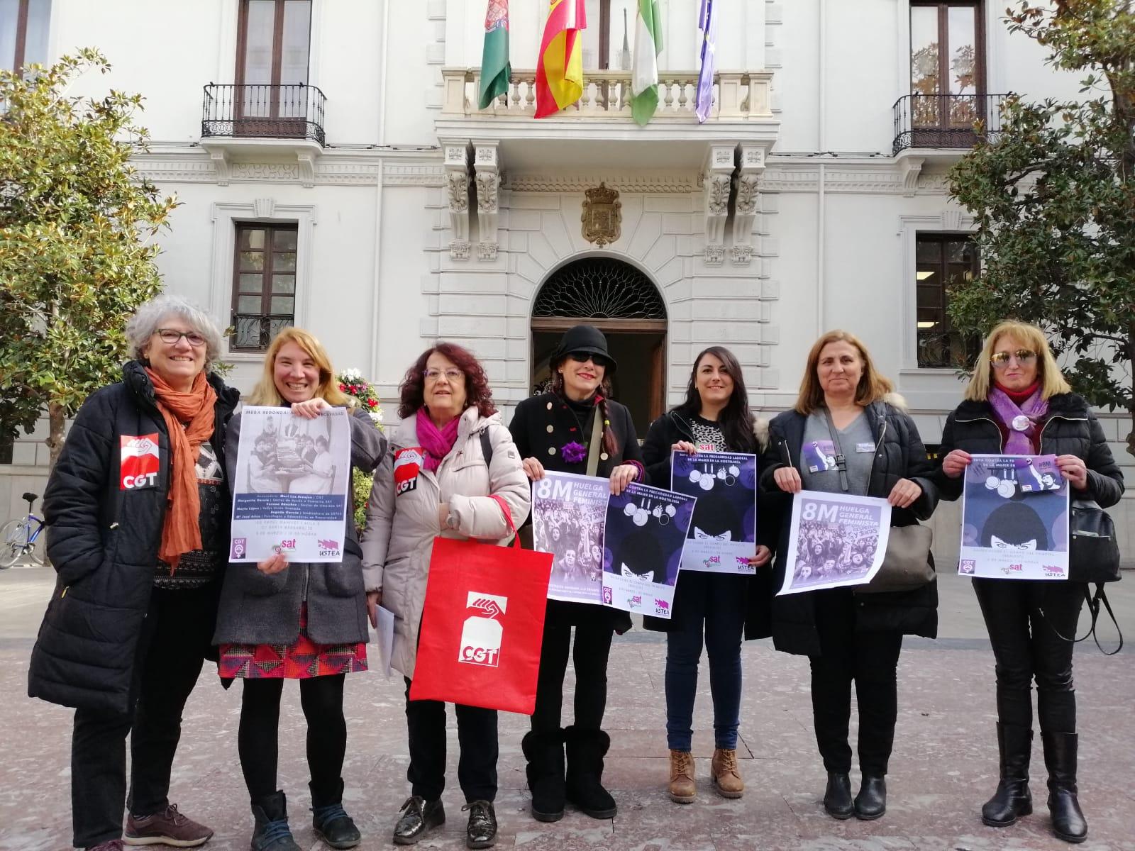 CGT, SAT y USTEA convocan la Huelga General Feminista del 8 de marzo