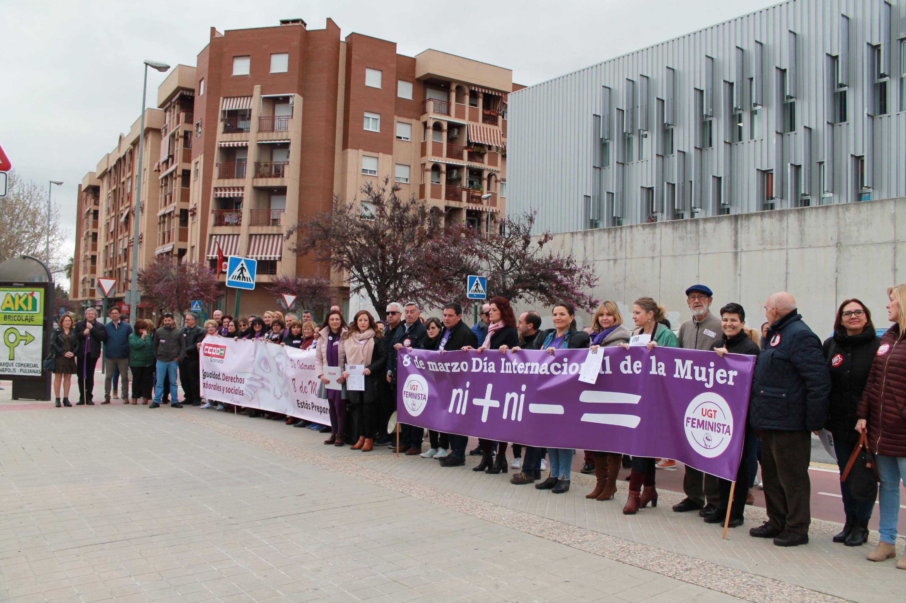 CCOO y UGT exigen en Granada leyes para avanzar hacia la igualdad real