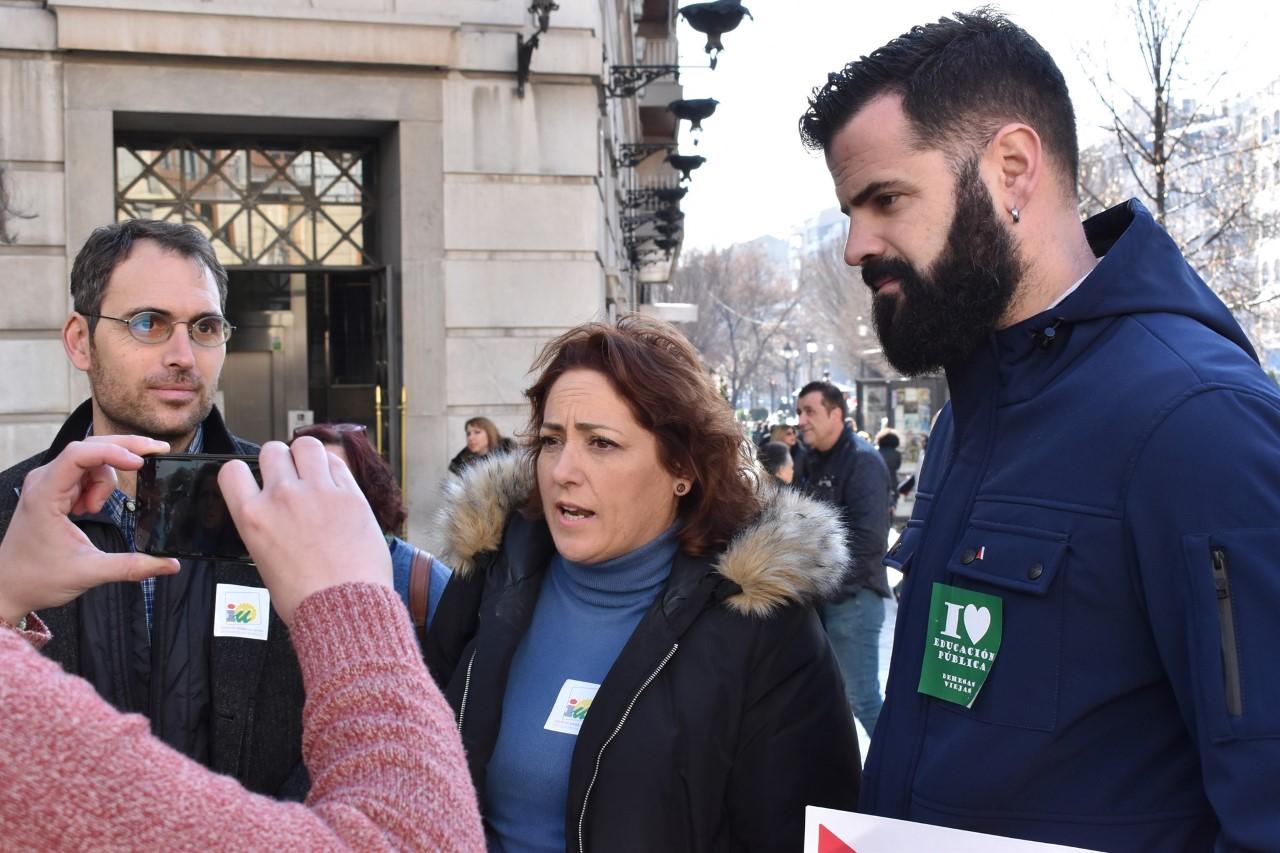 Izquierda Unida apoya la gran huelga educativa del 4M y pide una movilización masiva