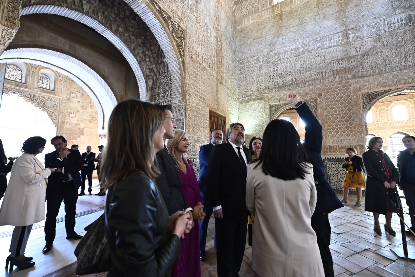 El ministro de Cultura y Deporte visita la Alhambra en su primer viaje a Granada