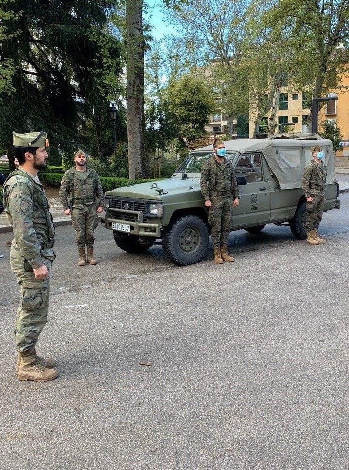 El ejército realiza tareas de vigilancia e información en la provincia