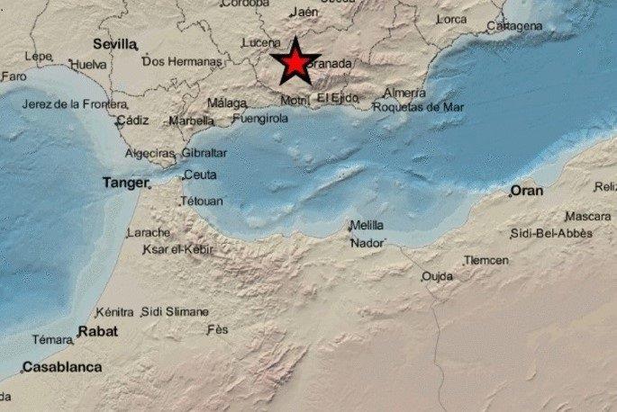 Registrado en Atarfe un terremoto de magnitud 2,6 grados