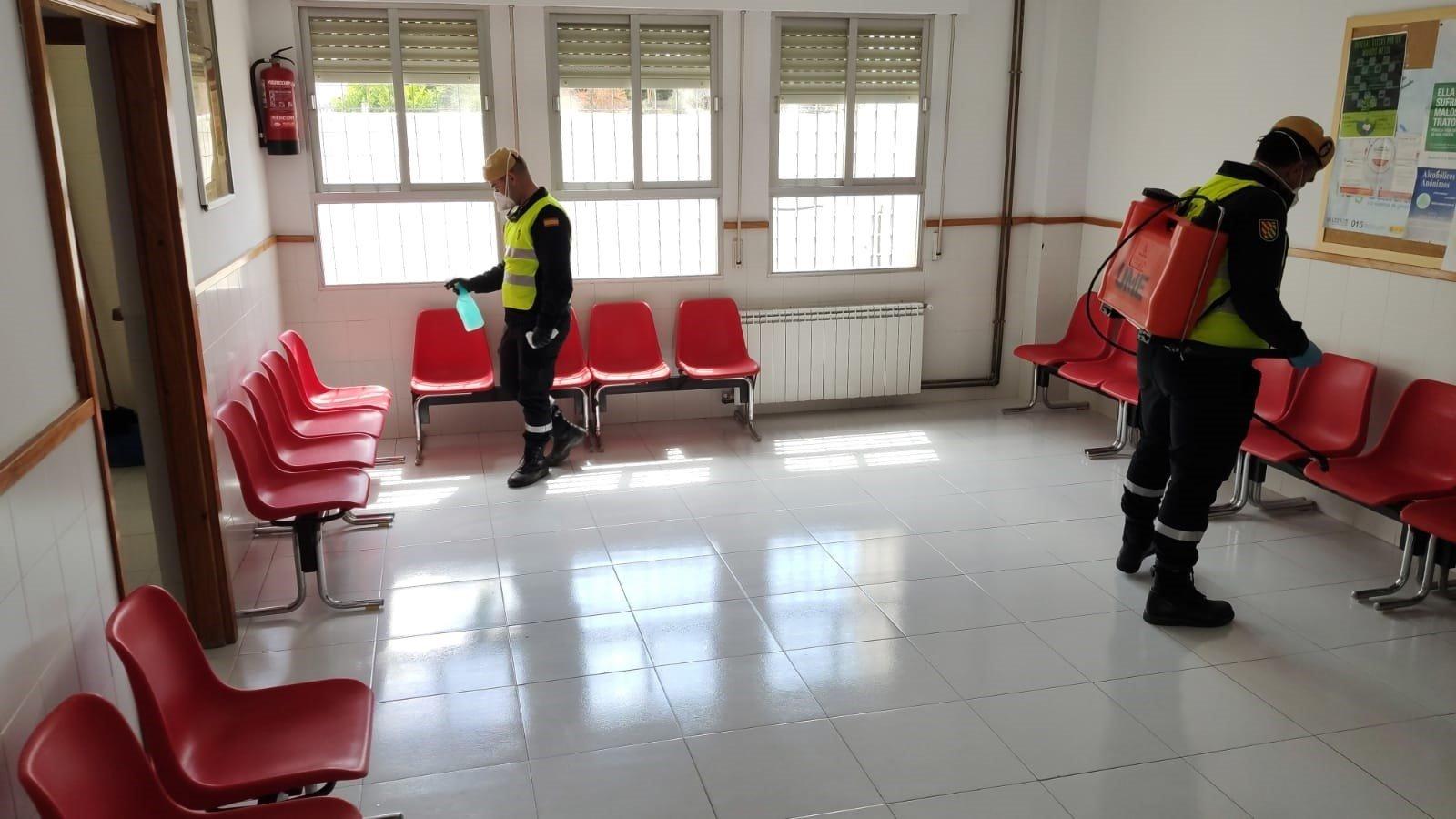 La UME continúa desinfectando residencias y centros de discapacitados