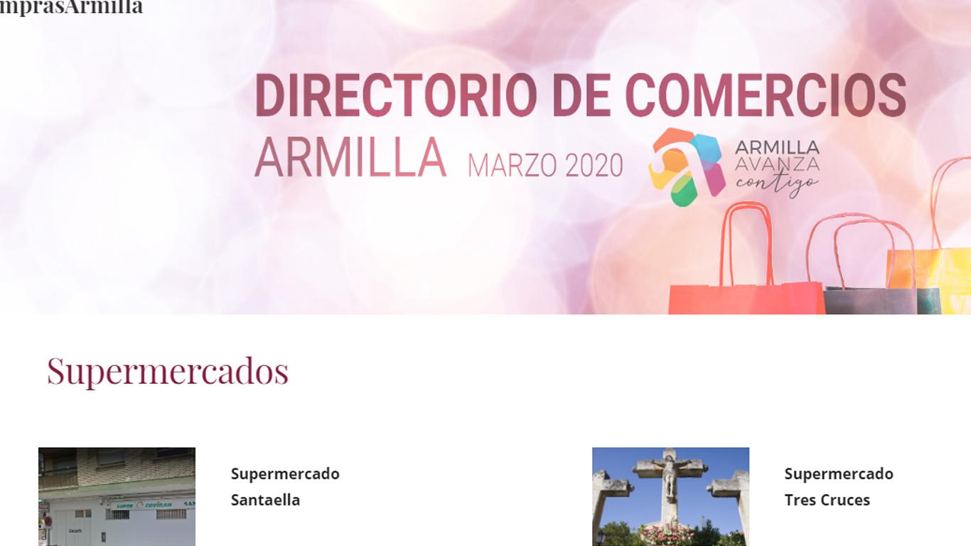 Armilla establece un directorio de comercios para facilitar las compras a sus vecinos