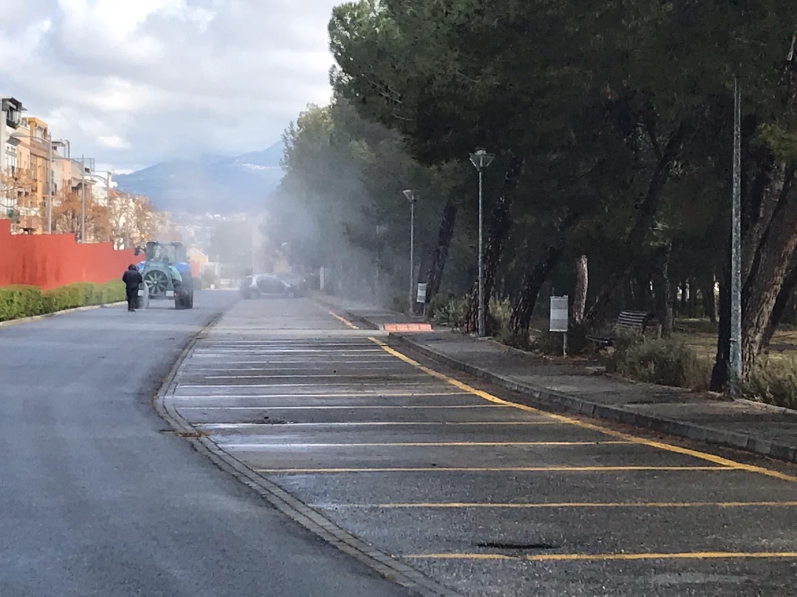 Diputación establece un protocolo de limpieza y desinfección de calles y espacios públicos en los municipios