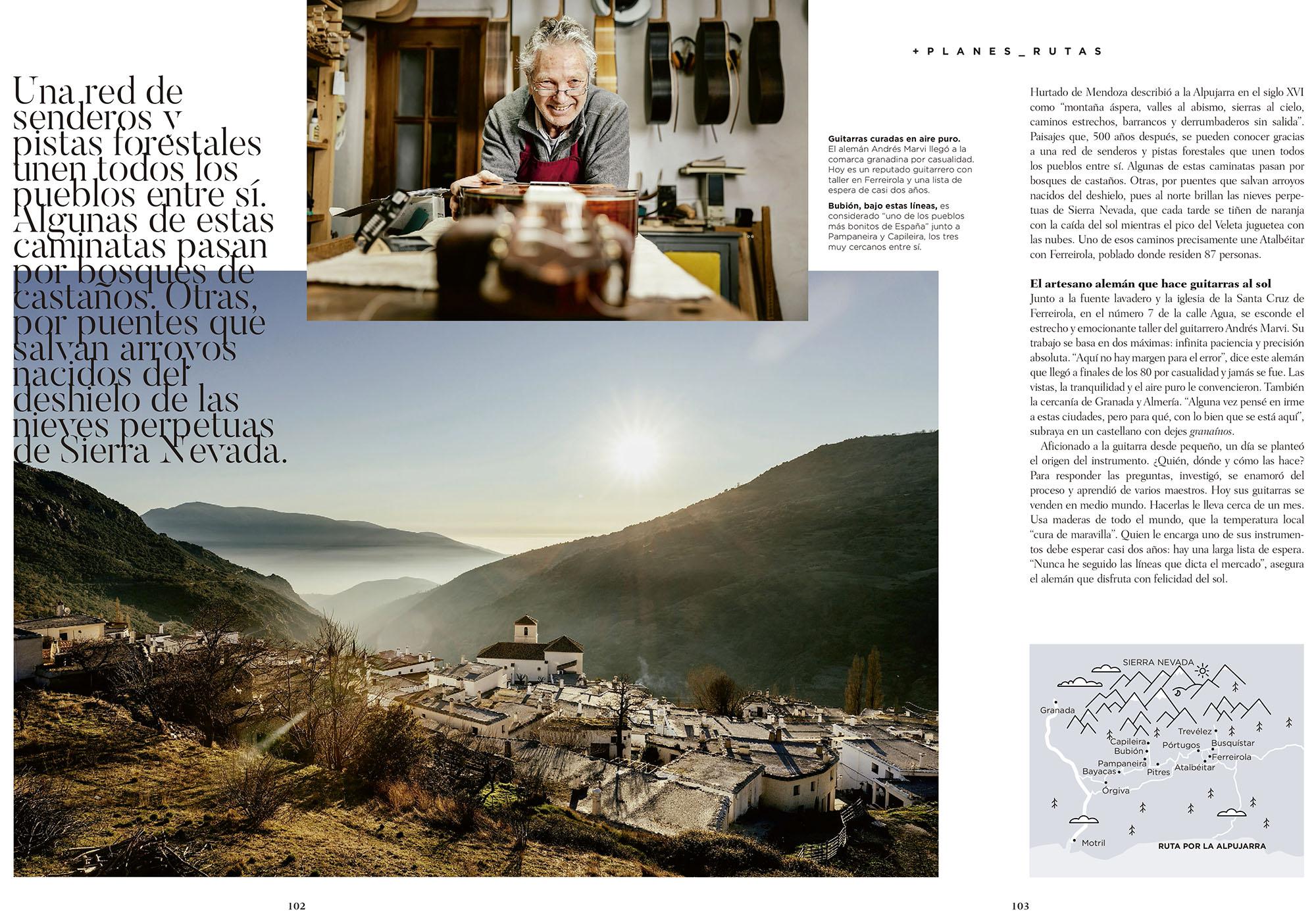 La Alpujarra, portada del número especial de la revista 'Club+Renfe'