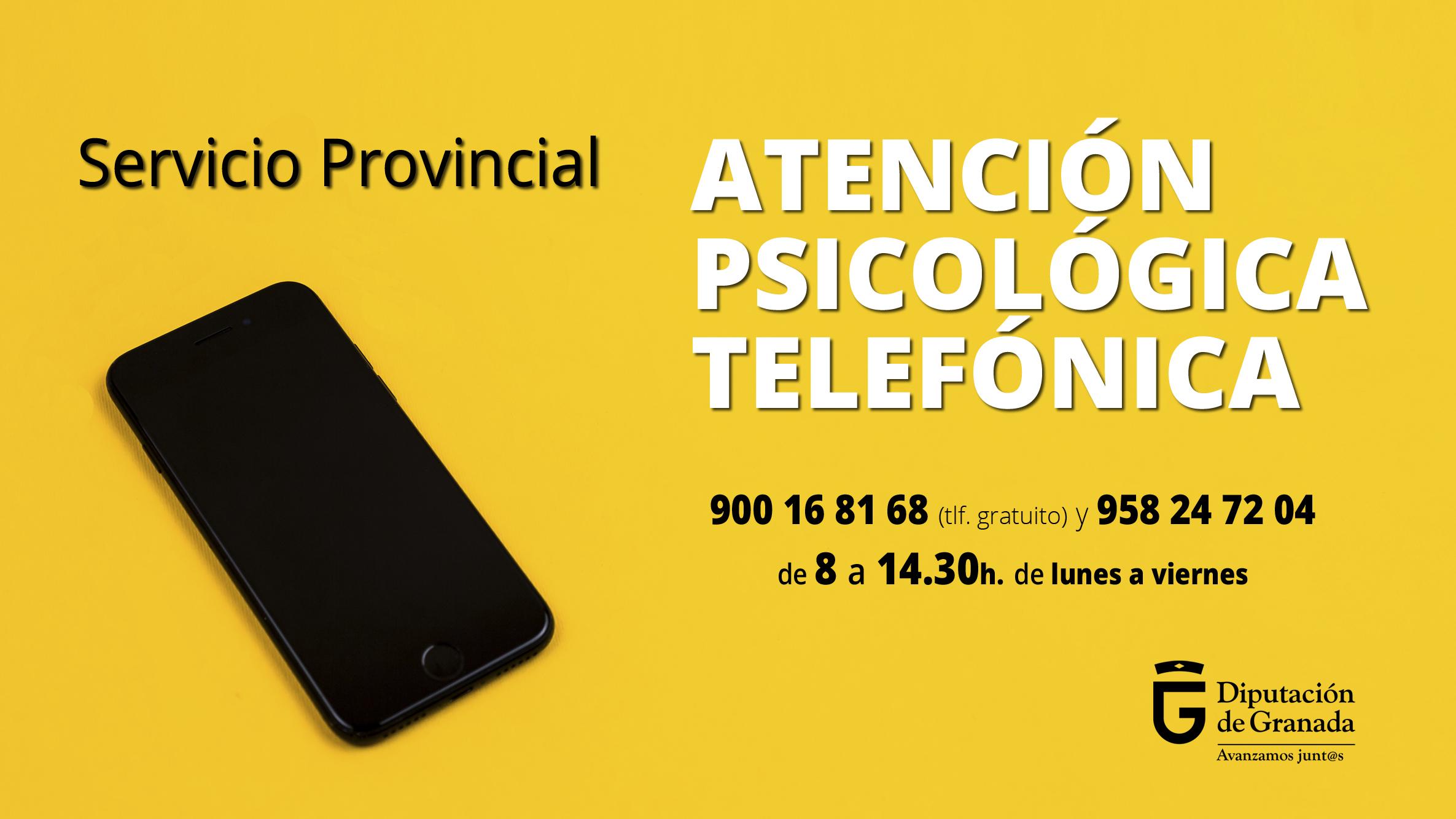 Diputación pone en marcha un teléfono de atención psicológica para abordar las dificultades derivadas de la pandemia y el confinamiento