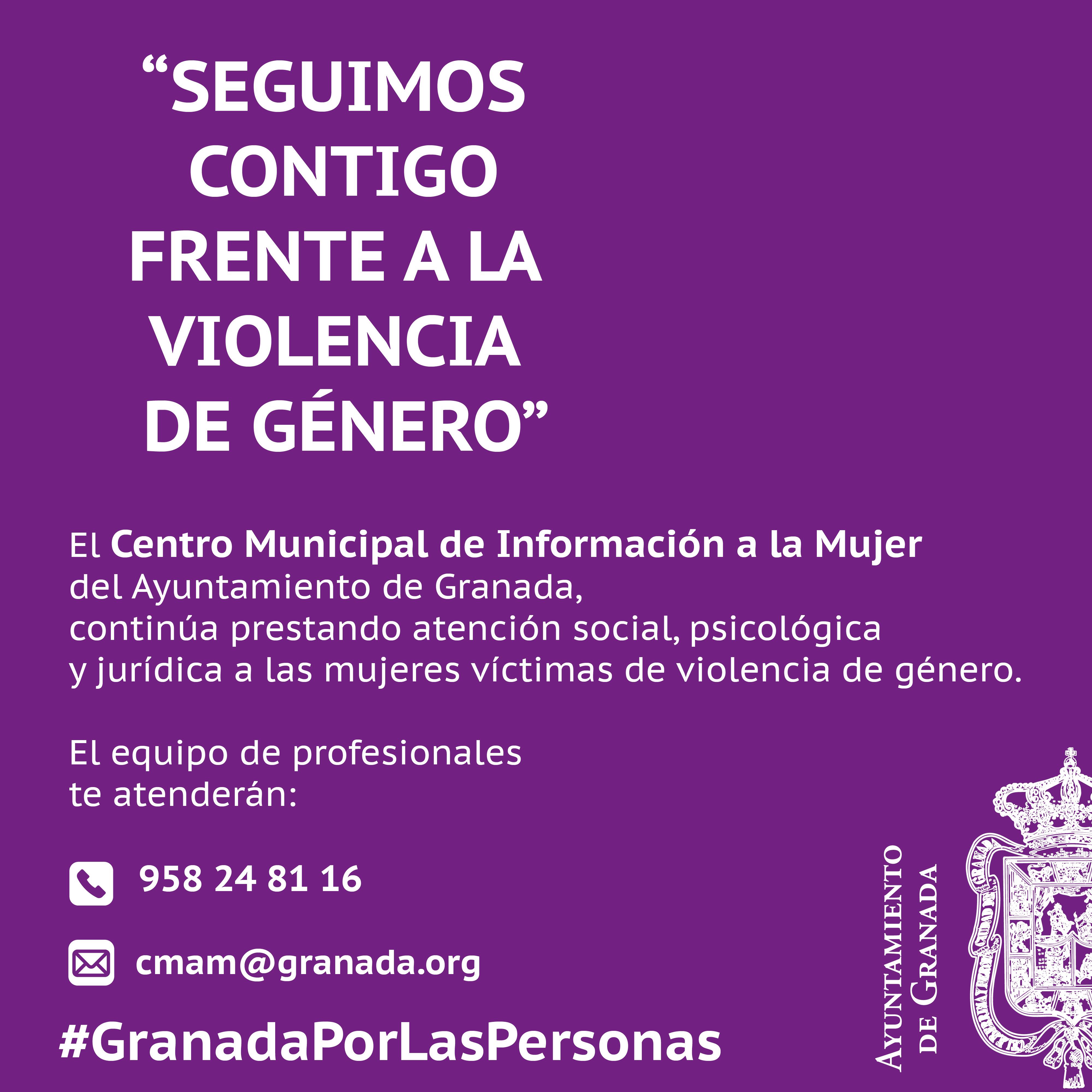 El Ayuntamiento de Granada atiende a 262 mujeres víctimas de violencia de género desde el inicio del confinamiento