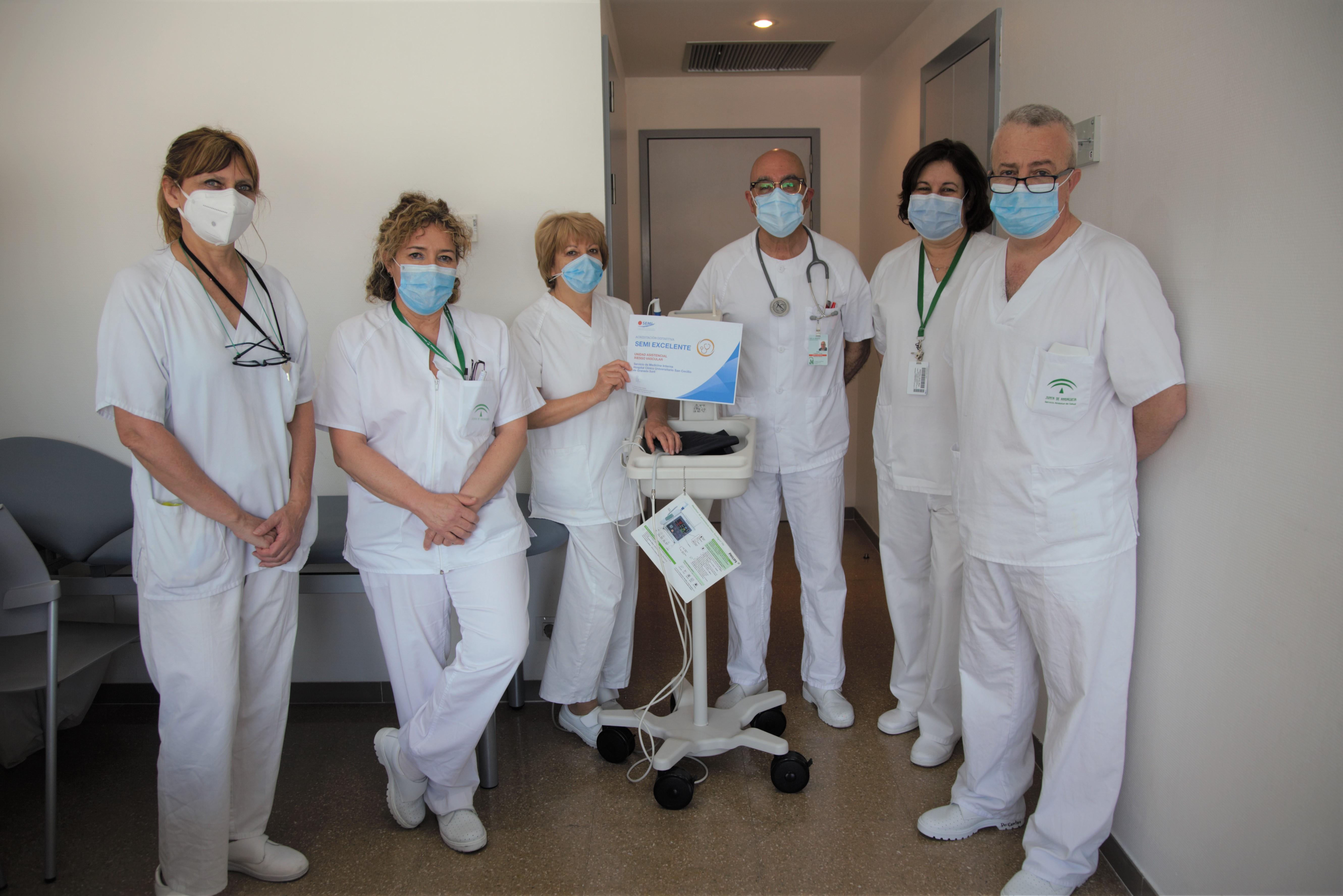La Unidad de Riesgo Vascular del Hospital Clínico recibe una calificación de excelencia