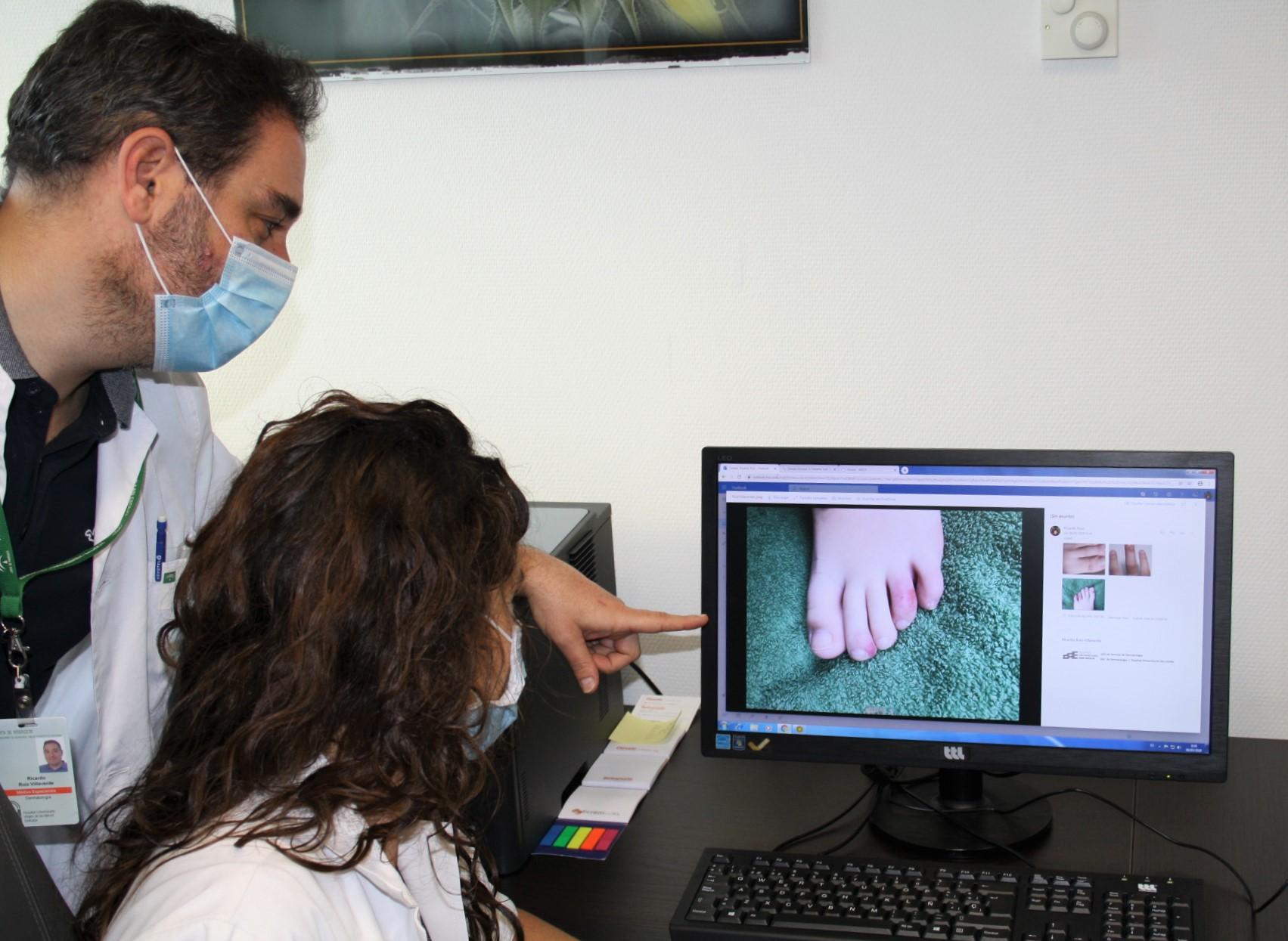 El Hospital Clínico participa en un estudio sobre los efectos de la infección por coronavirus en la piel