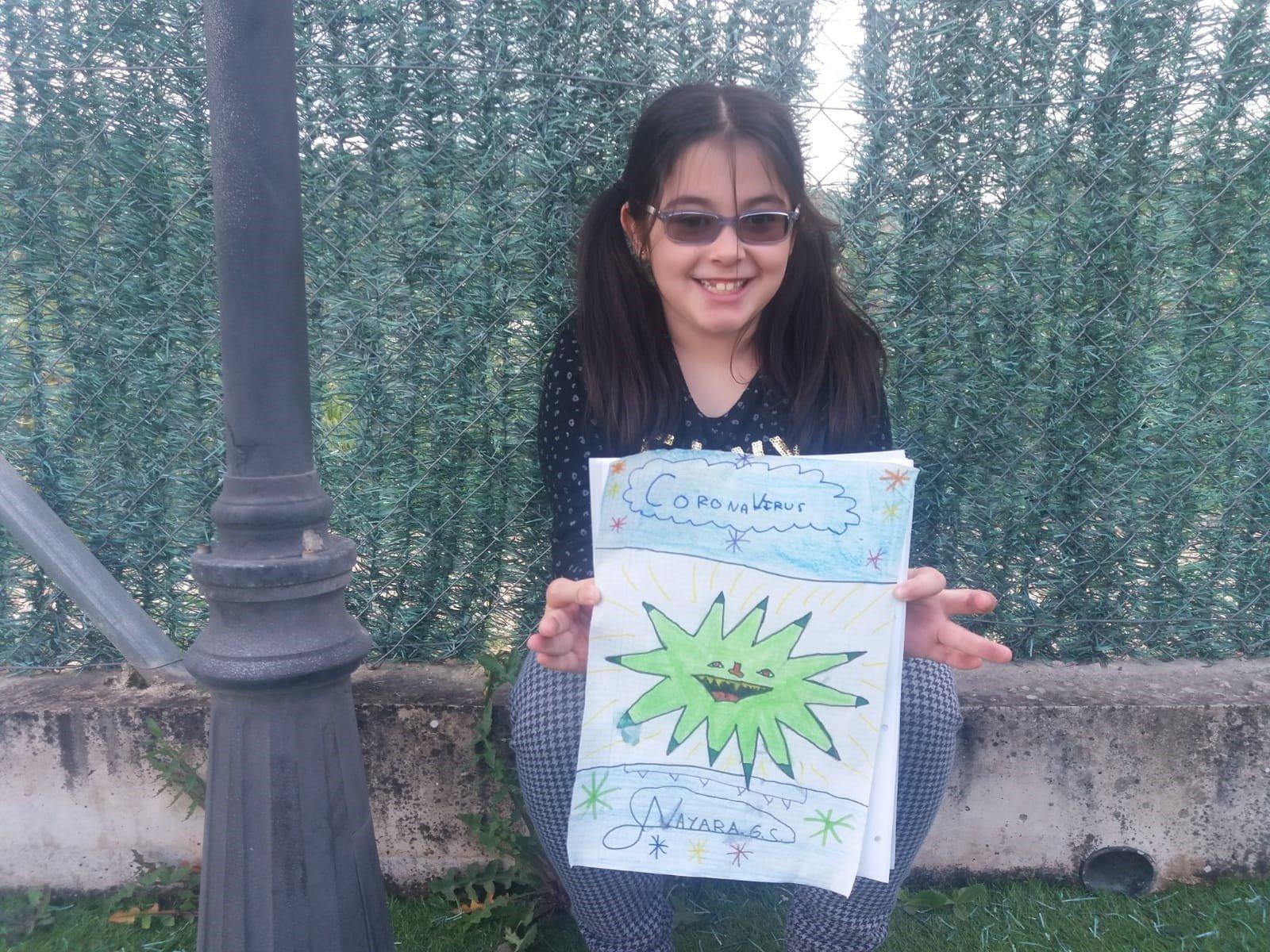 Una niña con discapacidad visual relata en un cuento la pandemia desde 2070