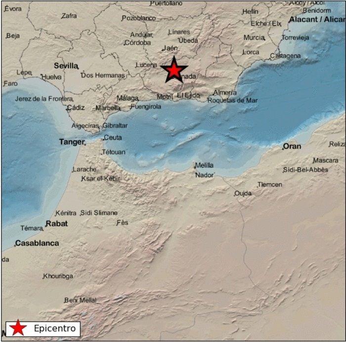 Registrado un seísmo de magnitud 2,9 con epicentro en Iznalloz
