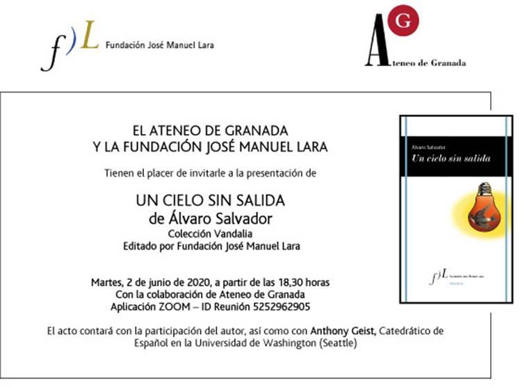 Álvaro Salvador presenta «Un cielo sin salida», nuevo poemario de la Colección Vandalia