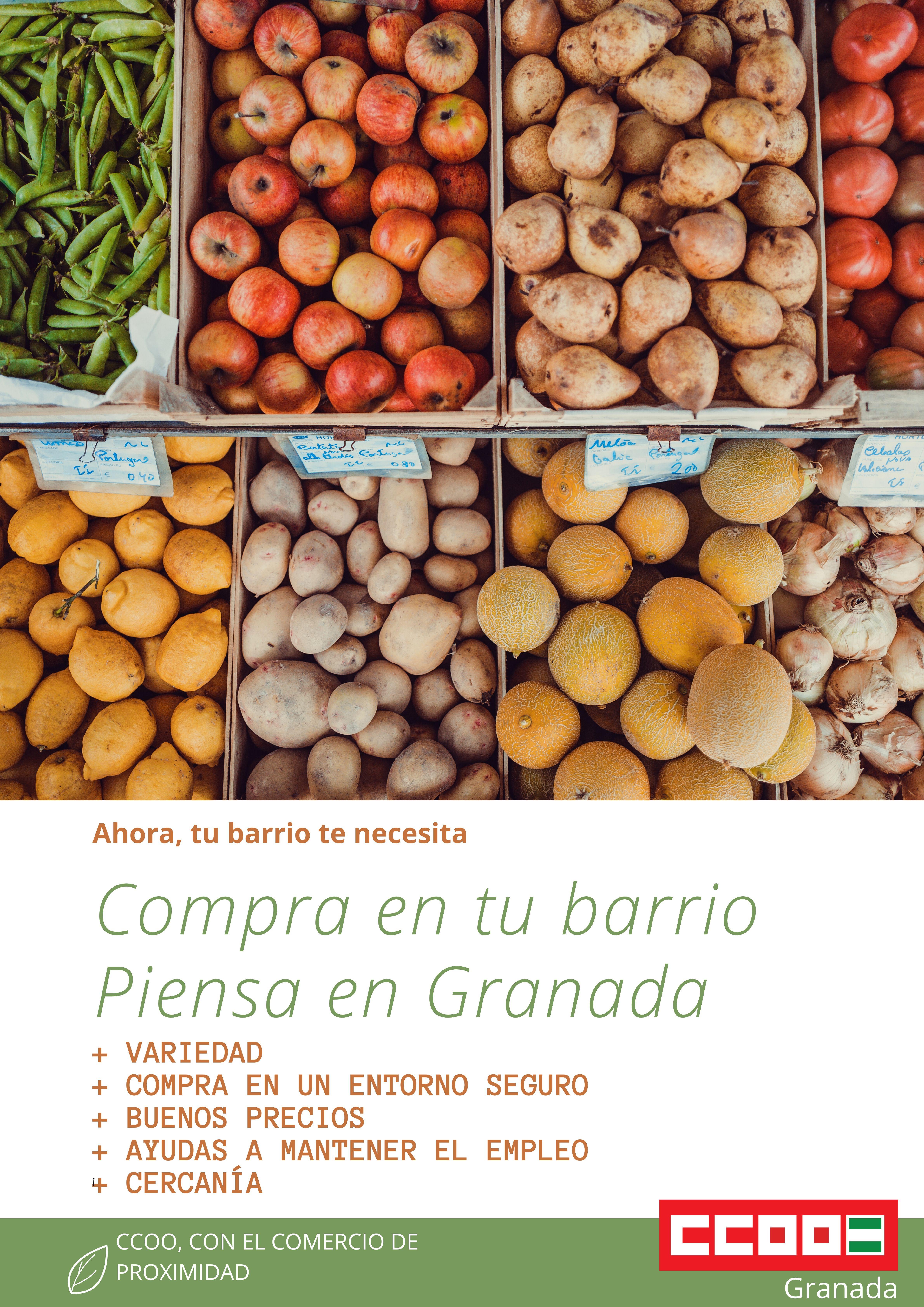 Campaña de CCOO para apoyar el comercio local y reactivar la economía