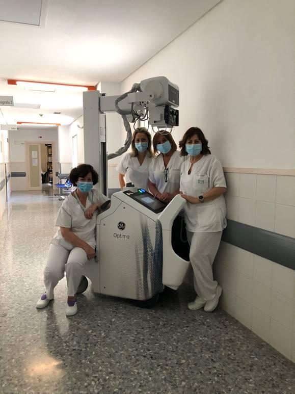 El Hospital de Baza recibe uno equipo de rayos X portátil