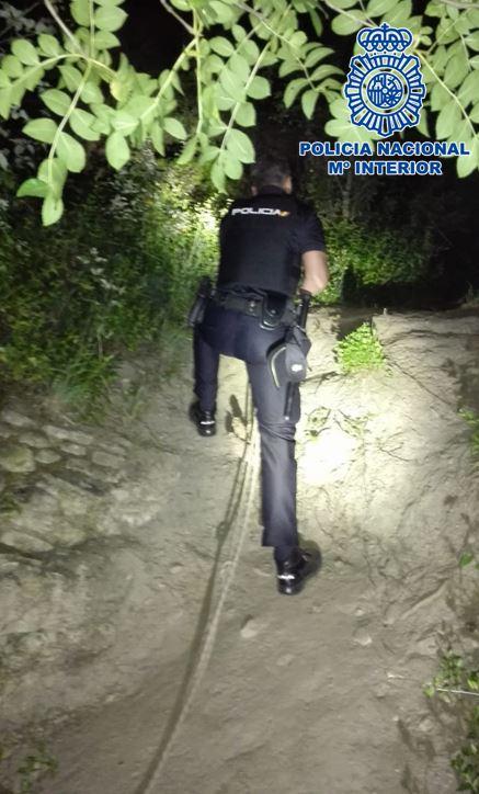 Rescatado un joven perdido en una zona escarpada de la Dehesa del Generalife