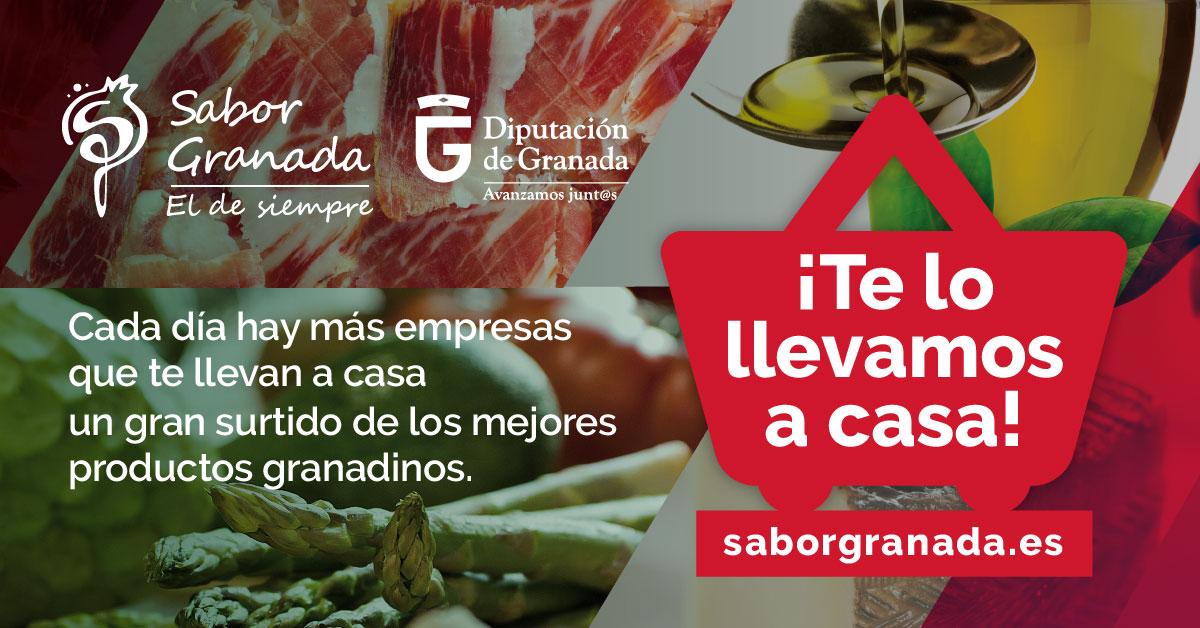 """Sabor Granada promociona el servicio de reparto a domicilio de sus productos: """"Te lo llevamos a casa"""":"""