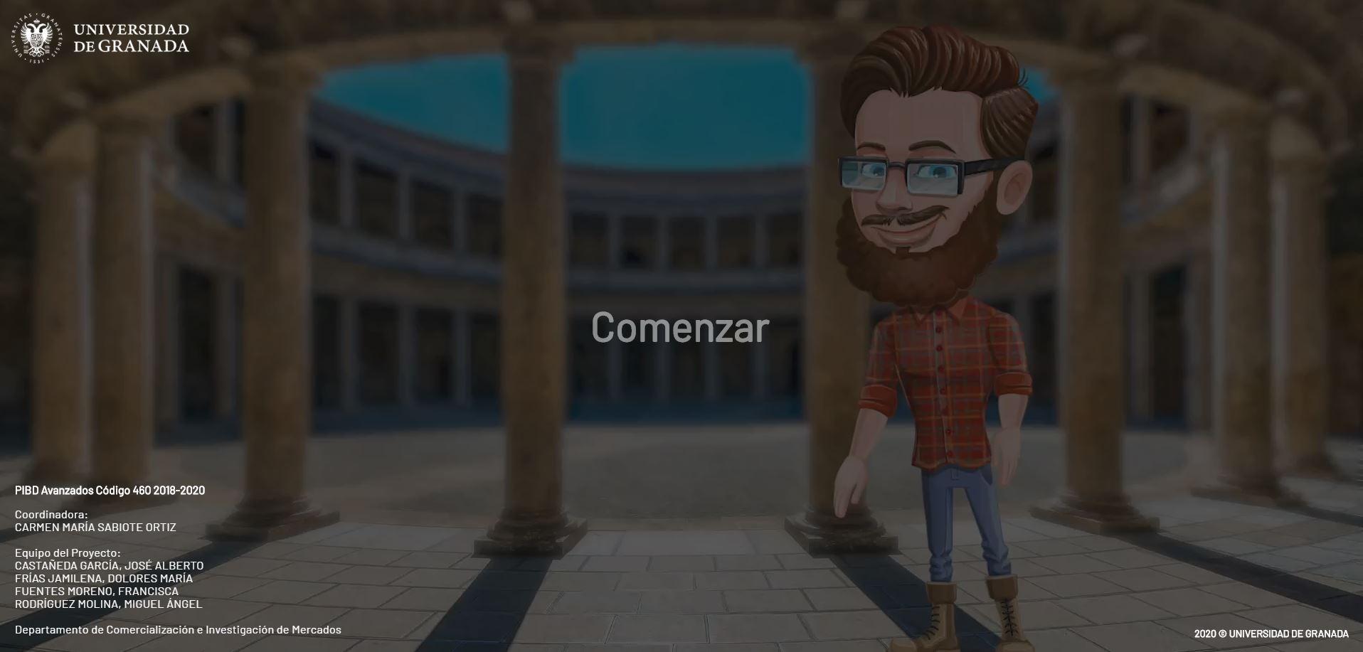 Profesores de la UGR desarrollan un video interactivo que permite pasear por Granada sin salir de casa