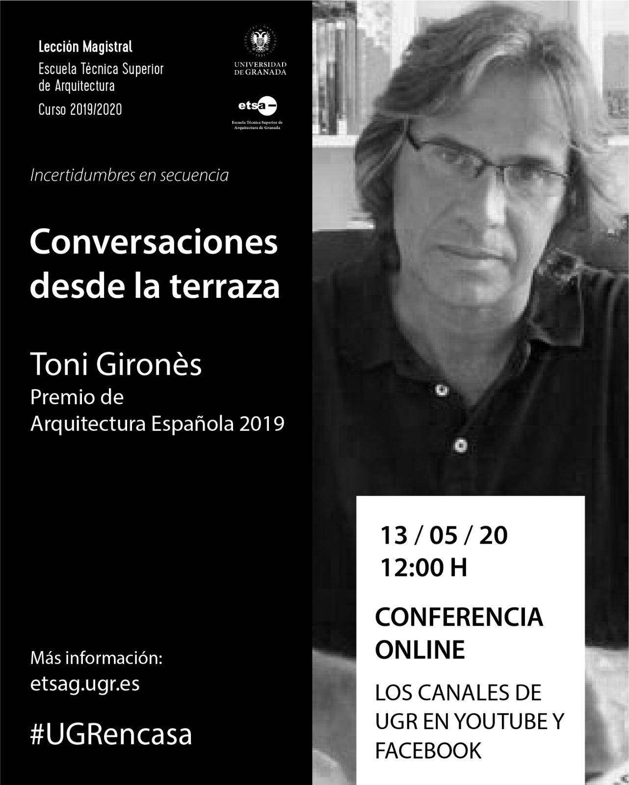 Conversaciones desde la terraza: videoconferencia con Toni Gironés
