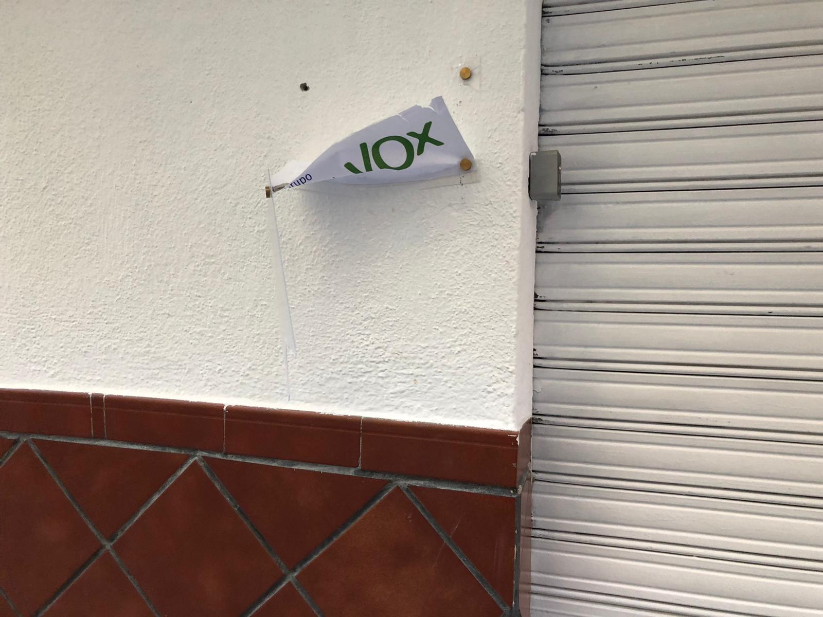 VOX denuncia el ataque a sus dependencias municipales en Maracena