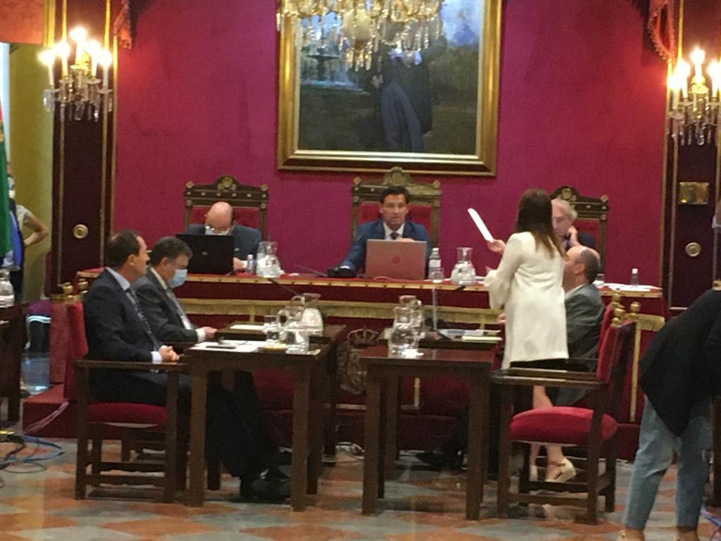VOX insiste en instalar los toldos en el centro de Granada para paliar los efectos de la ola de calor