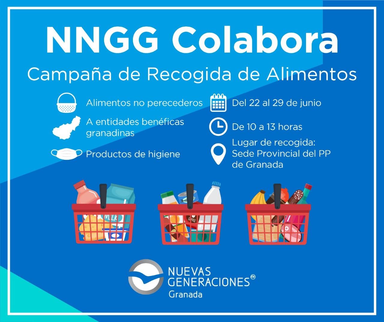 NNGG Granada se suma a la campaña de recogida de alimentos para familias necesitadas a causa de la Covid19