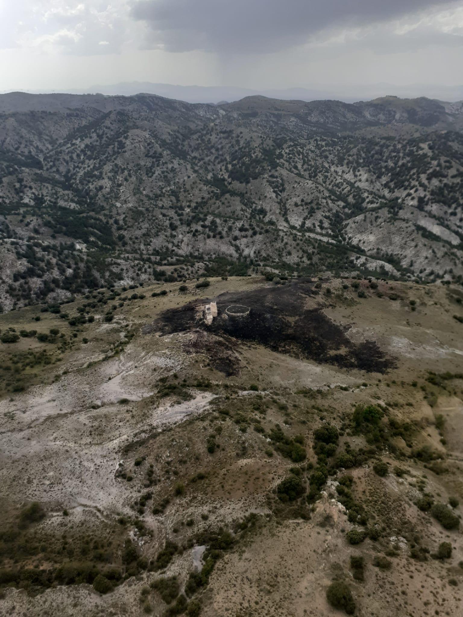 Extinguido el incendio forestal de Gor, que afectó a dos hectáreas de matorral