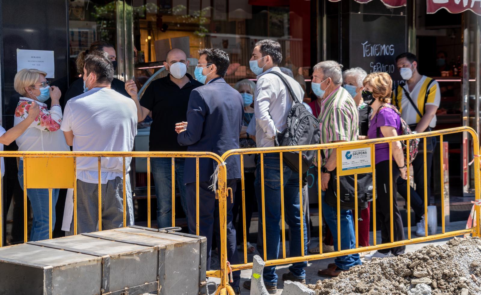 El PSOE critica que las obras de la calle Palencia se desarrollen de espaldas a los vecinos y comerciantes