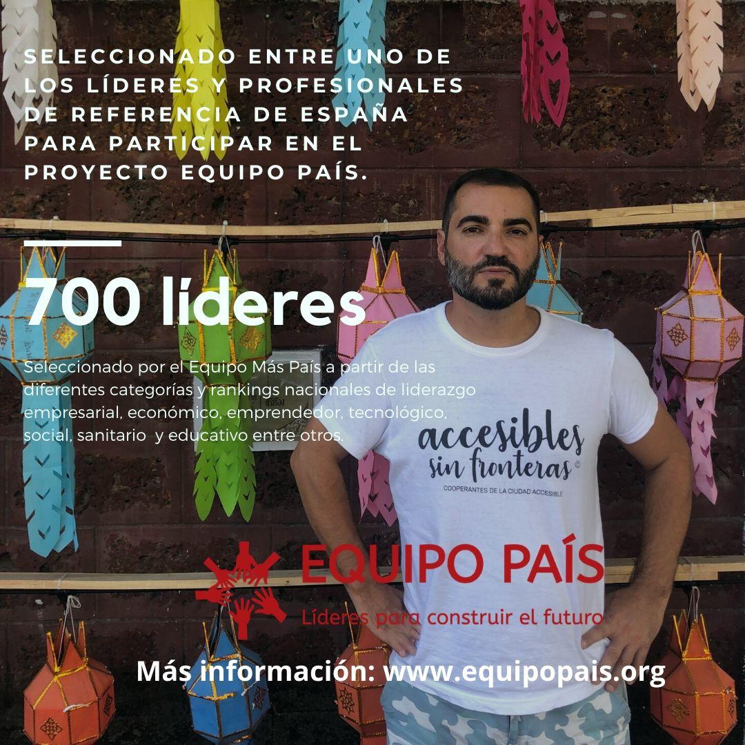 Antonio Tejada, de La Ciudad Accesible es seleccionado para el proyecto 'Equipo País. Líderes para construir el futuro'