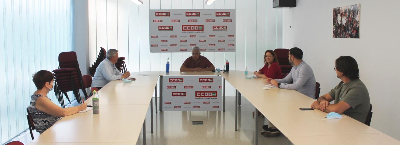 CCOO y UGT reciben el apoyo de IU y PSOE de cara a la movilización «Por la Reconstrucción de un Nuevo País»