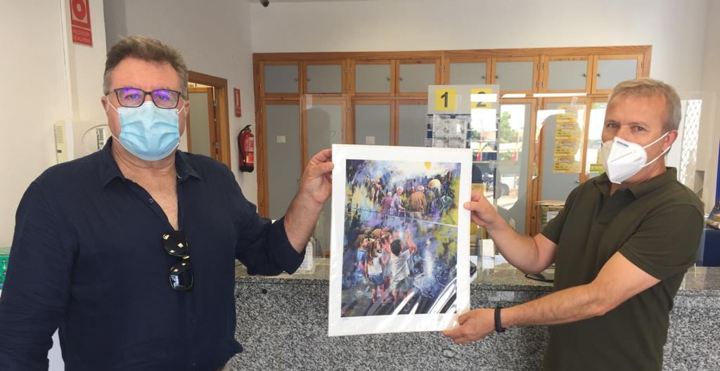 Correos colabora con el pintor Juan Lucena en la recaudación de fondos para la lucha contra el Covid-19