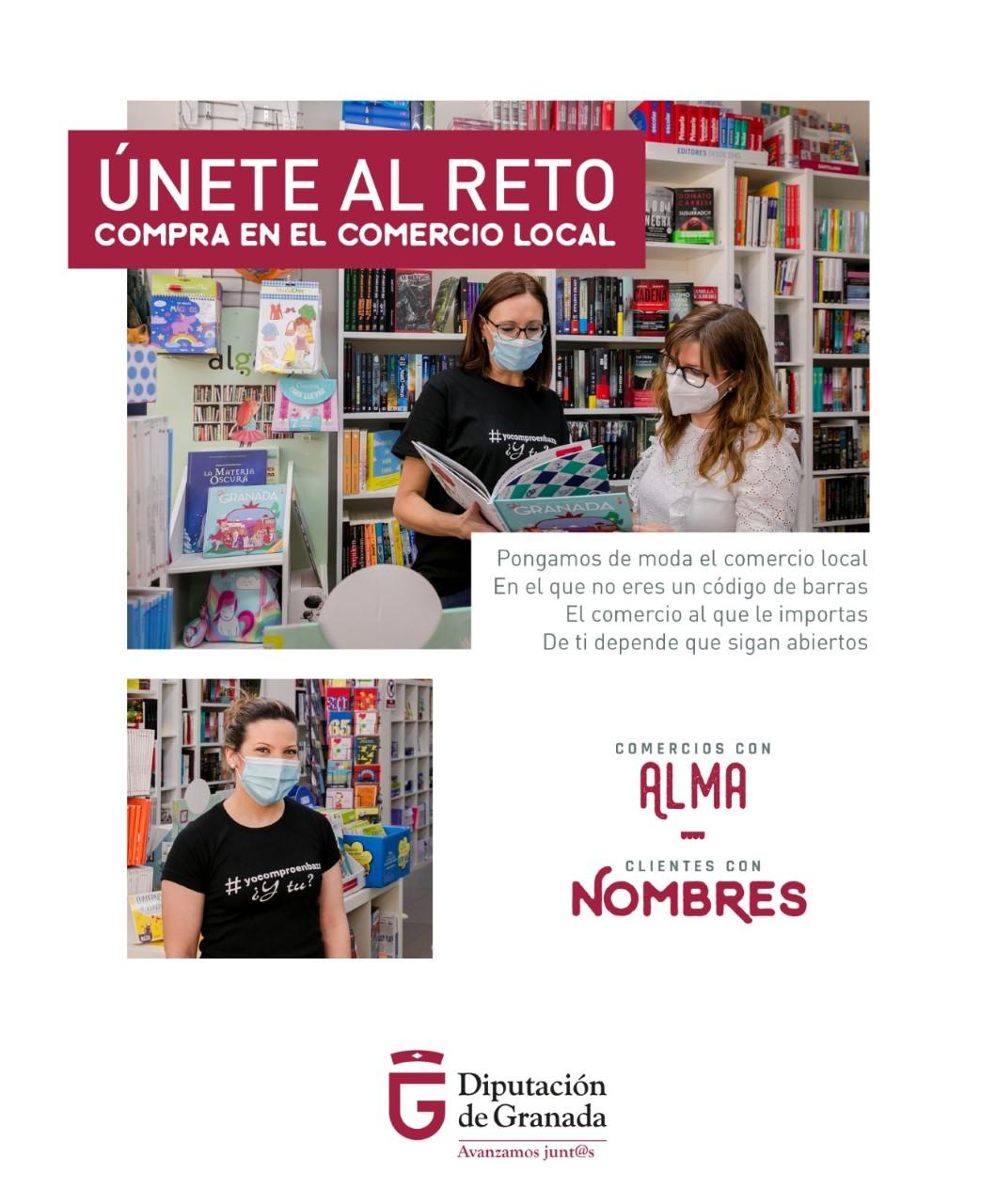 """""""Comercios con alma, clientes con nombre"""", campaña de Diputación para reactivar el comercio local tras la pandemia"""