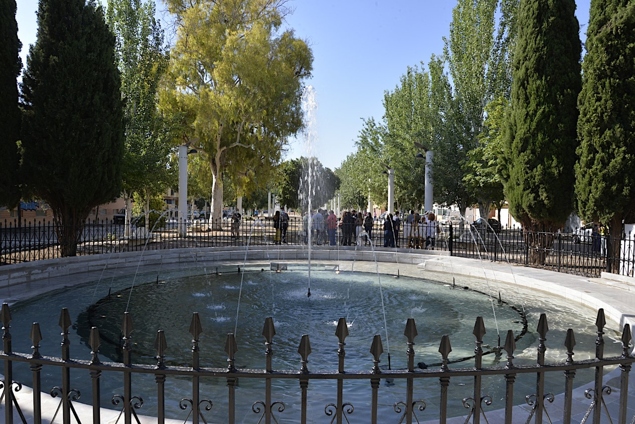 Renovada la Fuente del Caracol del Barrio Joaquina Eguaras