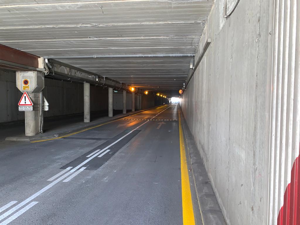 Obras de mejora del paso subterráneo de la calle Emilio Durán Durán