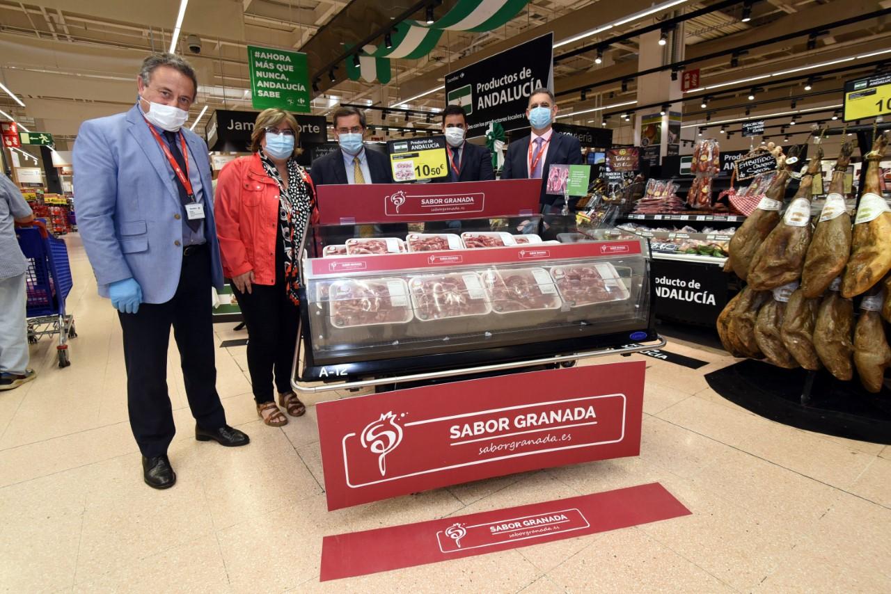 """Diputación promociona en los centros Carrefour los productos de la marca """"Sabor Granada"""""""
